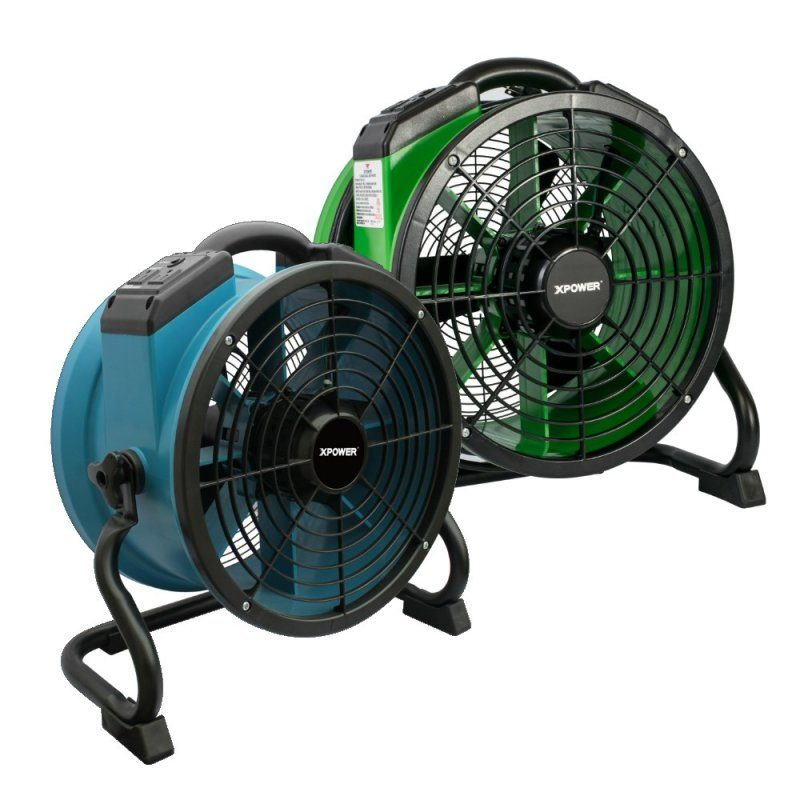 XPOWER X-34AR 1/4 HP Sealed Motor Variable Speed Industrial Axial Fan with Power Outlets