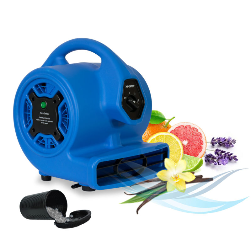 scented air mover with air purifying ionizer