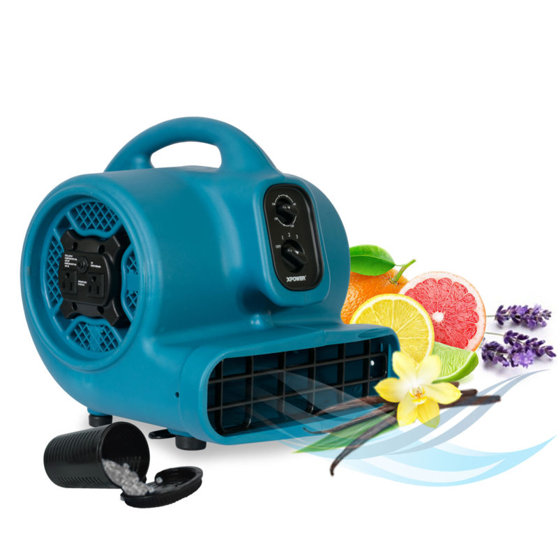 scented air mover with built-in power outlets