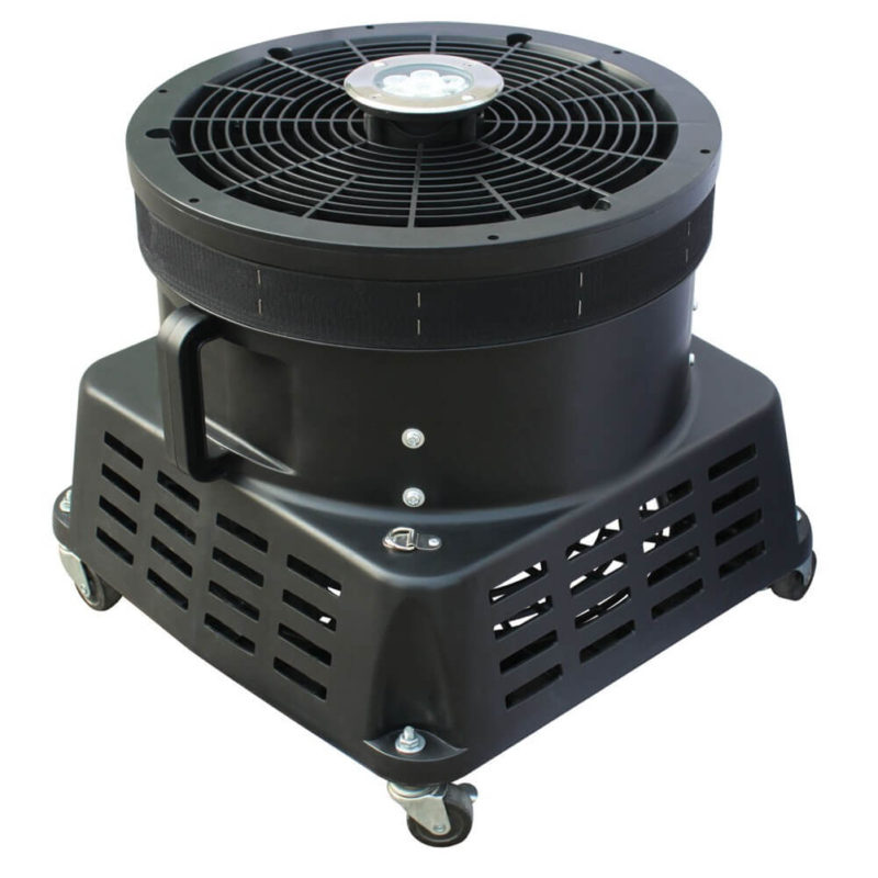 "XPOWER BR-450L 1 HP 18"" Diameter Vertical Advertisement Inflatable Blower Fan with LED Lights"