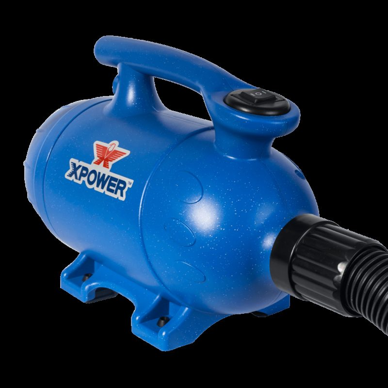 XPOWER B-2 Pro-At-Home Pet Dryer / Vacuum - Blue