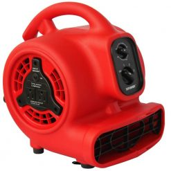 XPOWER P-200AT 1/8 HP Mini Air Mover with Timer & Power Outlets