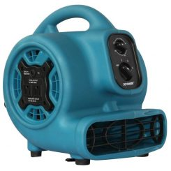 XPOWER P-230AT 1/5 HP Mini Air Mover with Timer & Power Outlets - Refurbished