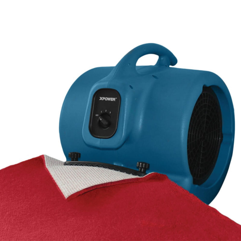 Firmly holds the carpet in place while directing the airflow underneath the carpeting