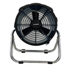 XPOWER X-34ASR2 1/4 HP Sealed Motor Industrial Axial Fan with Power Outlets & Stainless Steel Stand
