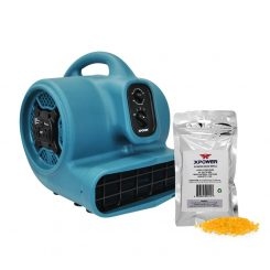 XPOWER P-450AT Scented Air Mover with Timer, Power Outlets & 8 oz Aroma Beads Refill - Citrus Bliss