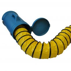 """XPOWER 8DHC25 Flexible 8"""" Diameter 25 Feet PVC Ducting Hose with Carrier"""