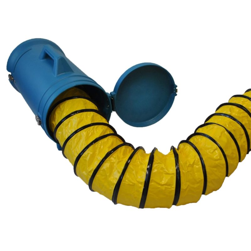 "XPOWER 8DHC25 Flexible 8"" Diameter 25 Feet PVC Ducting Hose with Carrier"