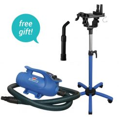 XPOWER B-8 Elite Pro Brushless Pet Dryer with Heat & FREE SMK-2 Stand Mount Kit