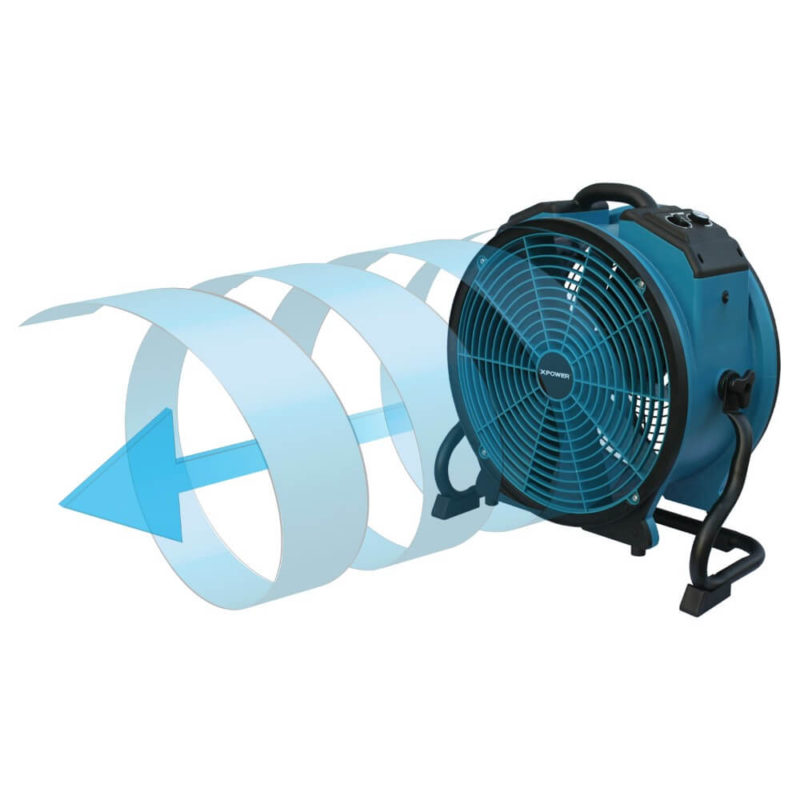 Air Fin Guide technology which makes the air more focused allowing it to blow longer distances and remain powerfu