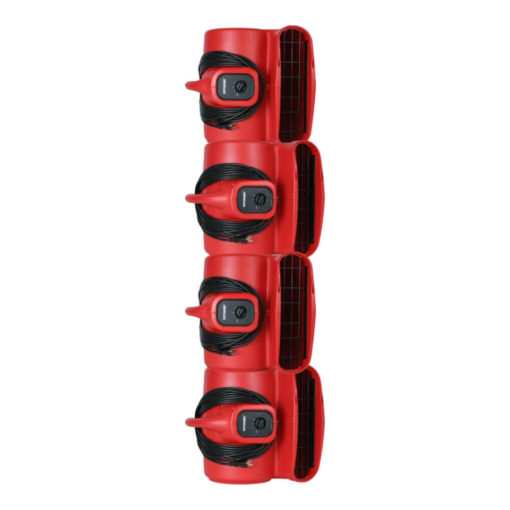 Stackable up to 4 units high for easy storage