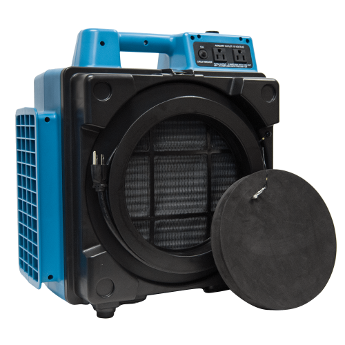 XPOWER X-2480A Professional 3 Stage HEPA Mini Air Scrubber - Blue
