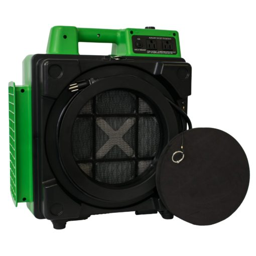 XPOWER X-2480A Professional 3 Stage HEPA Mini Air Scrubber - Green