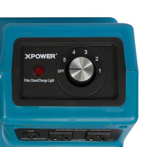 A five speed control switch & a convenient indicator light notifies you when filters need cleaning or replacement