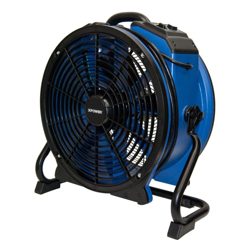 XPOWER X-48ATR 1/3 HP High Temp Sealed Motor Industrial Axial Fan with Timer & Power Outlets