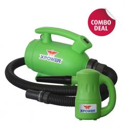 XPOWER B-55 Green Home Pet Dryer & B-53 Green Multipurpose Electric Blower Combo Pack