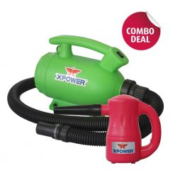 XPOWER B-55 Green Home Pet Dryer & B-53 Pink Multipurpose Electric Blower Combo Pack