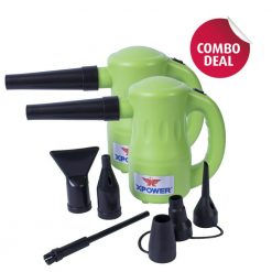 XPOWER B-53 Green Airrow Pro Multipurpose Electric Blower Dryer Combo Pack