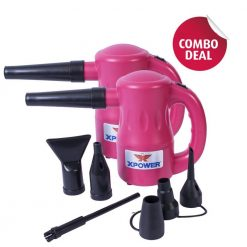 XPOWER B-53 Pink Airrow Pro Multipurpose Electric Blower Dryer Combo Pack