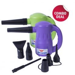 XPOWER B-53 Purple / Green Airrow Pro Multipurpose Electric Blower Dryer Combo Pack