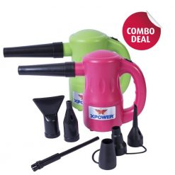 XPOWER B-53 Pink / Green Airrow Pro Multipurpose Electric Blower Dryer Combo Pack