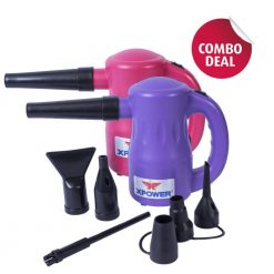 XPOWER B-53 Purple / Pink Airrow Pro Multipurpose Electric Blower Dryer Combo Pack