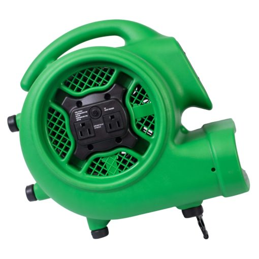 XPOWER P-430AT 1/3 HP Air Mover, Carpet Dryer, Floor Fan, Blower with Timer & Power Outlets - Air Chaser Exclusive