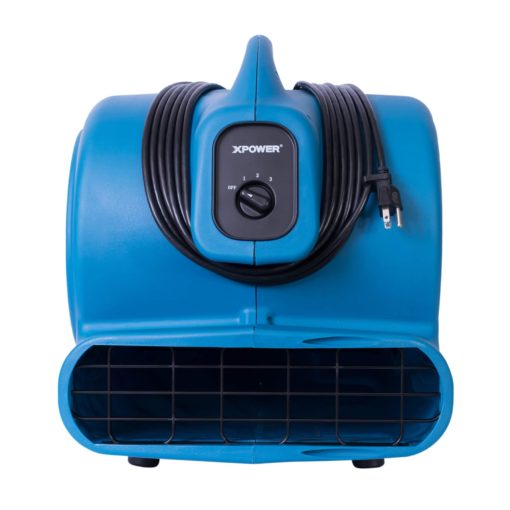 XPOWER P-800 3/4 HP Air Mover, Carpet Dryer, Floor Fan, Blower