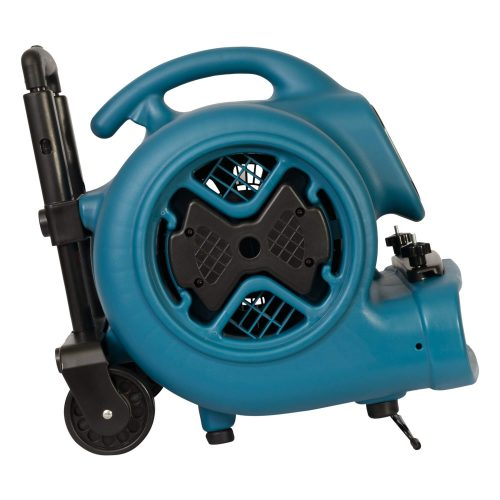 XPOWER P-630HC 1/2 HP Air Mover, Carpet Dryer, Floor Fan, Blower with Telescopic Handle, Wheels & Carpet Clamp